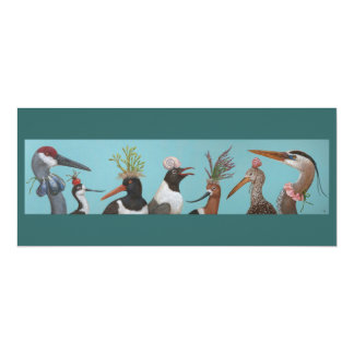 Water birds flat card