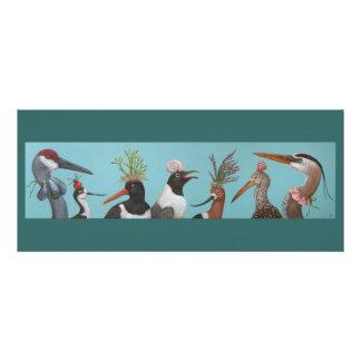 Water birds flat card
