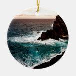 Water Black Rock Coast.jpg Christmas Ornament
