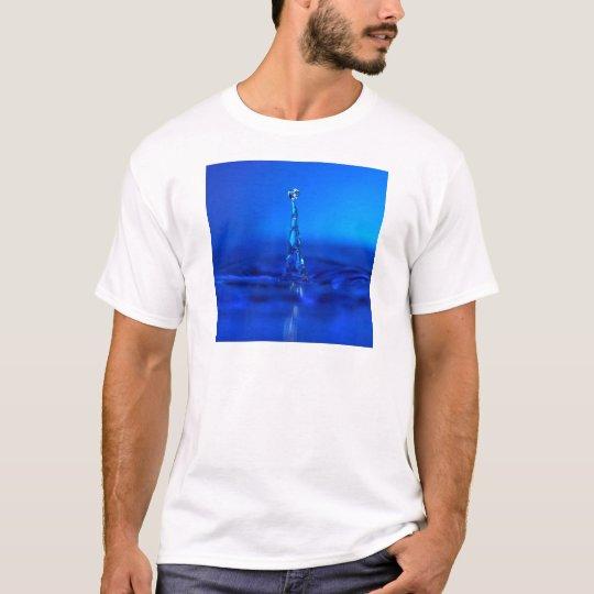 Water Blue Droplet Peaks T-Shirt