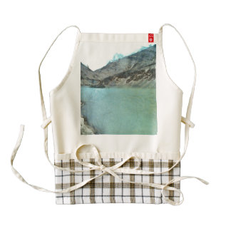 Water body in the Himalayas Zazzle HEART Apron