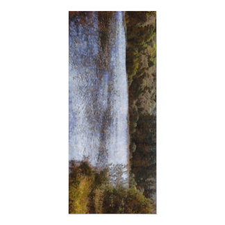 Water body surrounded by greenery card