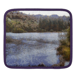 Water body surrounded by greenery iPad sleeve