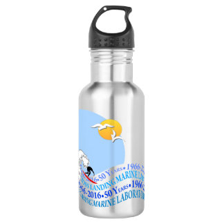 Water Bottle (18 oz): MLML 50th wave