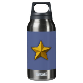 Water bottle, Aluminum water bottle, Gold star Insulated Water Bottle