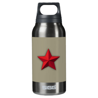 Water bottle, Aluminum water bottle, Red star Insulated Water Bottle