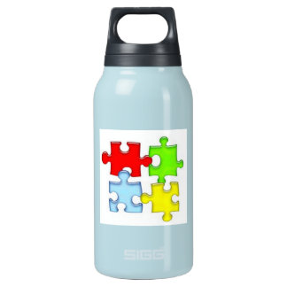 Water Bottle(Autism puzzle) Insulated Water Bottle