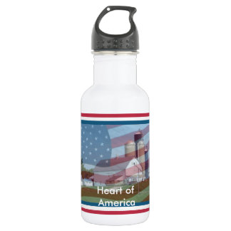 Water Bottle ~Farmer's, Heart of America