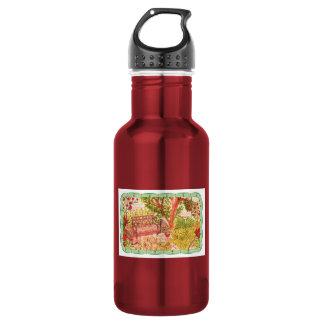 Water Bottle-Garden Bench 18oz Water Bottle