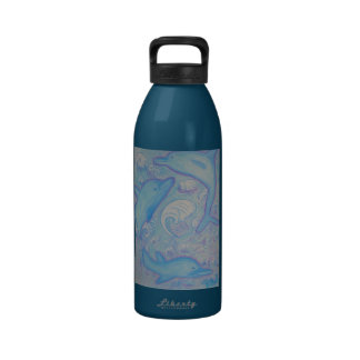 Water Bottle - Happy Dolphins