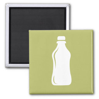 Water Bottle Hydrate Workout Graphic 2 Inch Square Magnet