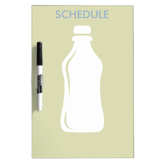 Water Bottle Hydrate Workout Graphic Dry Erase Board