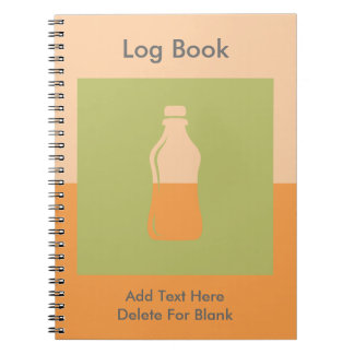 Water Bottle Hydrate Workout Graphic Notebook