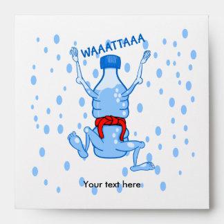 Water Bottle Karake Attack Waattaa Joke Envelope