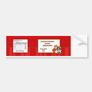Water Bottle Label All-Star Red Bumper Sticker