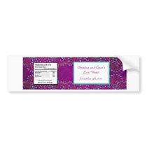 Water Bottle Label Arabian Purple