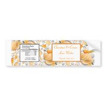 Water Bottle Label Assorted Seashells Orange