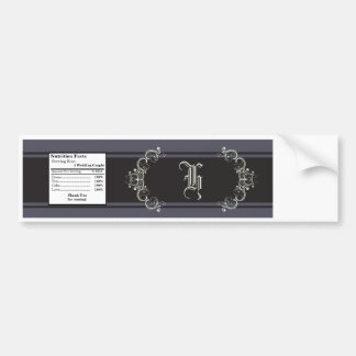 Water Bottle Label Black Tie Affair Gray Elegant Bumper Sticker