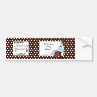 Water Bottle Label Blue Mod Mom Polka Dots Bumper Stickers