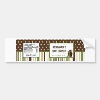 Water Bottle Label Enchanted Hollow Woodland Deer Bumper Sticker
