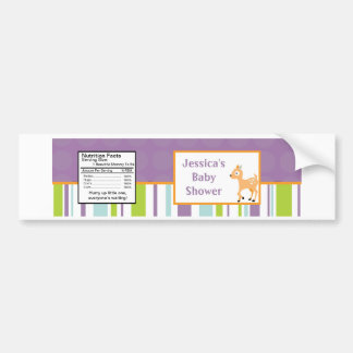 Water Bottle Label Furry Woodland Animals Bumper Sticker