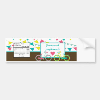 Water Bottle Label Love Lovers Bikes Bicycle Carni