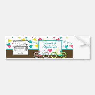 Water Bottle Label Love Lovers Bikes Bicycle Carni Car Bumper Sticker