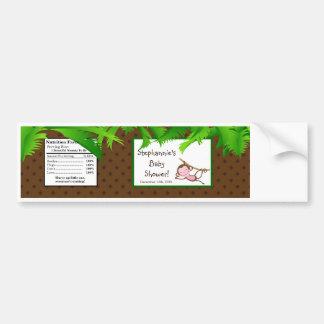 Water Bottle Label Monkey Swing Jungle Safari Zoo Bumper Sticker
