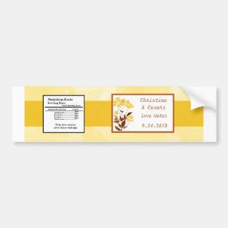 Water Bottle Label Mustard Yellow Poppy Flower Bro Bumper Sticker