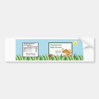Water Bottle Label Rain-forest Jungle Animal Bumper Sticker