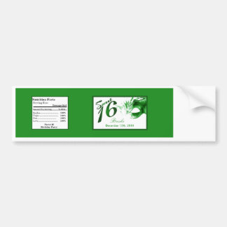 Water Bottle Label Sweet 16 Green Party