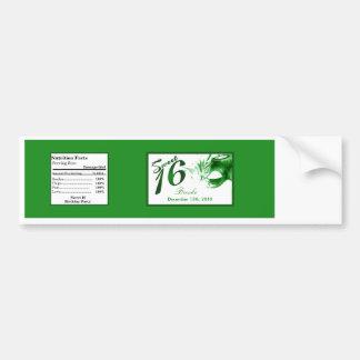 Water Bottle Label Sweet 16 Green Party Car Bumper Sticker