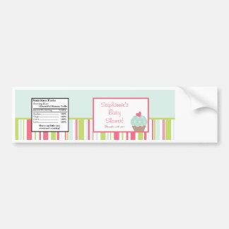Water Bottle Label Tea Party Pink Pastel Flowers Bumper Stickers