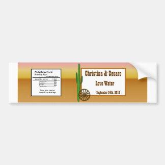Water Bottle Label Wagon Wheel/Horse Shoe Sunset D Bumper Sticker