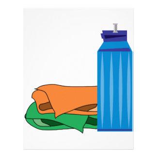 Water Bottle Letterhead