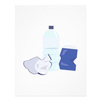 Water Bottle Letterhead Template
