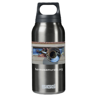 Water Bottle~ Mural #3:  West Coast Jazz 10 Oz Insulated SIGG Thermos Water Bottle