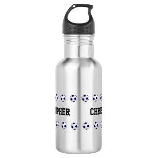 Water Bottle, Personalized, Soccer, Steel Stainless Steel Water Bottle