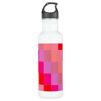 water bottle,pink/orange pattern water bottle