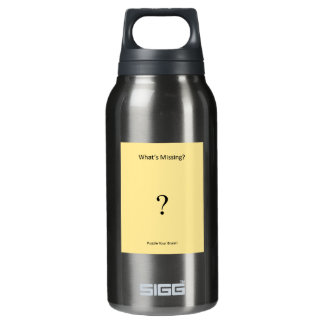 """Water Bottle: Puzzle Book """"What's Missing?"""" Logo Insulated Water Bottle"""