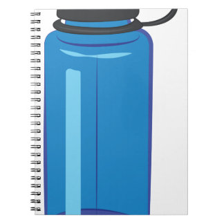 Water Bottle Spiral Notebook