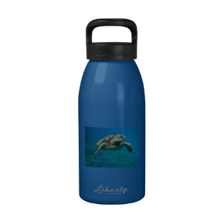 Water bottle with a sea turtle picture