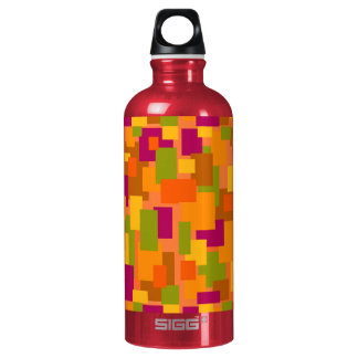 Water Bottle with Autumnal Patch 2 Art