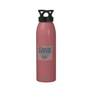 WATER BOTTLE with GOD IS LOVE heart design