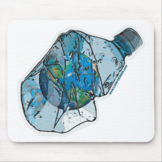 Water bottle world mouse pad