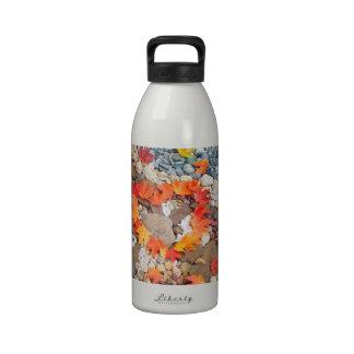 Water Bottles gifts Autumn Leaves Heart Rocks