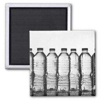 Water bottles in studio 2 inch square magnet