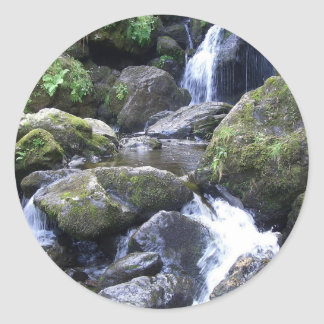 Water Boulder Moutain Falls Classic Round Sticker