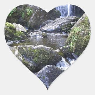 Water Boulder Moutain Falls Heart Sticker