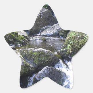 Water Boulder Moutain Falls Star Sticker